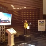 Soitec's Camille Darnaud-Dufour welcomes guests and introduces the CEO at SFMOMA.